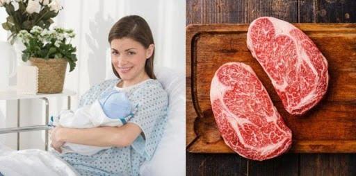 Mẹ nên ăn thịt bò để bổ sung dinh dưỡng cho bé