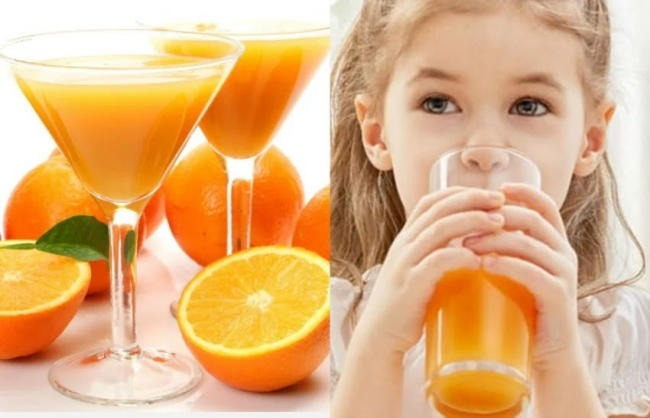 Nước cam cải thiện hệ miễn dịch cho bé
