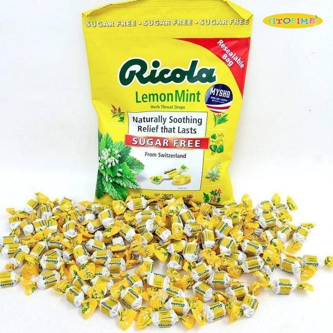 Viên ngậm ho Ricola Lemon Mint