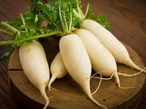 Củ cải trắng chữa ho lâu ngày cho bé