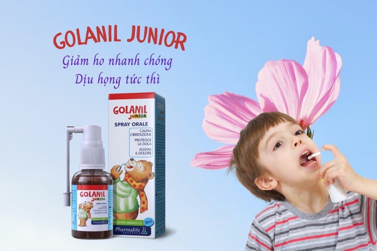 Golani Junior - Giảm ho nhanh chóng, dịu họng tức thì