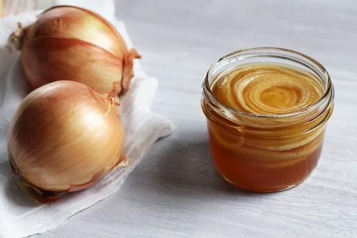Hành tây kết hợp với mật ong