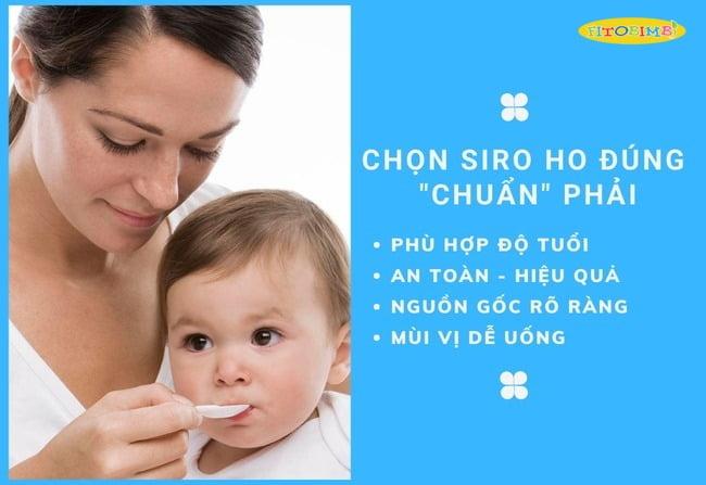 Tiêu chí lựa chọn siro ho cho trẻ