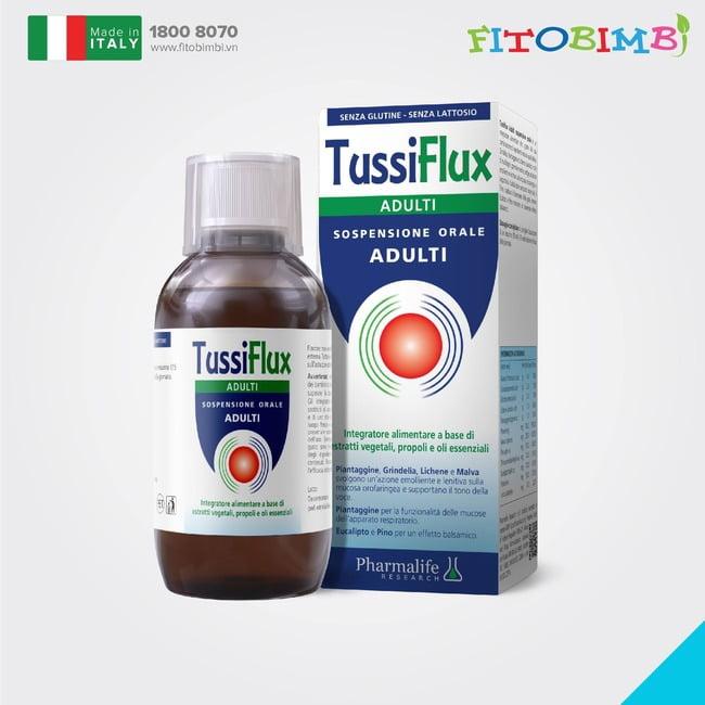 Tussiflux Adult - Dòng sản phẩm trị ho, viêm họng, đau họng do cảm cúm dành cho người lớn