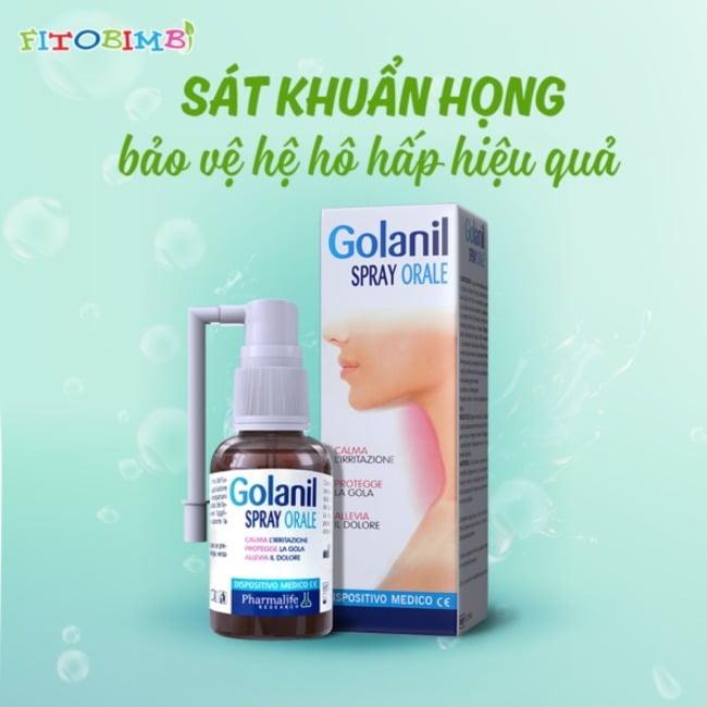 Xịt họng Golanil Spray - Bảo vệ cổ họng hiệu quả