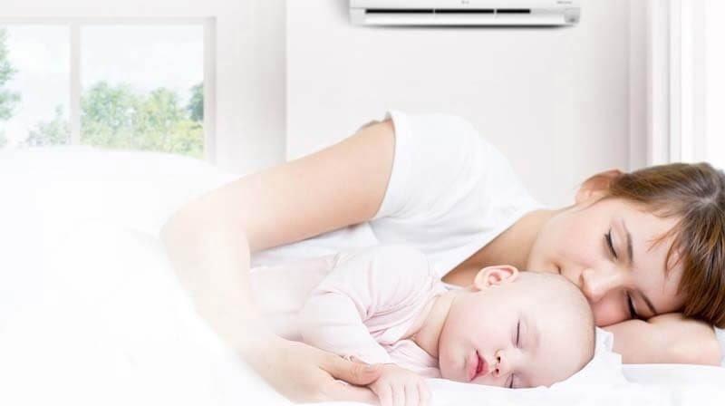 Trẻ sẽ thoải mái trong môi trường nhiệt độ 26 độ C