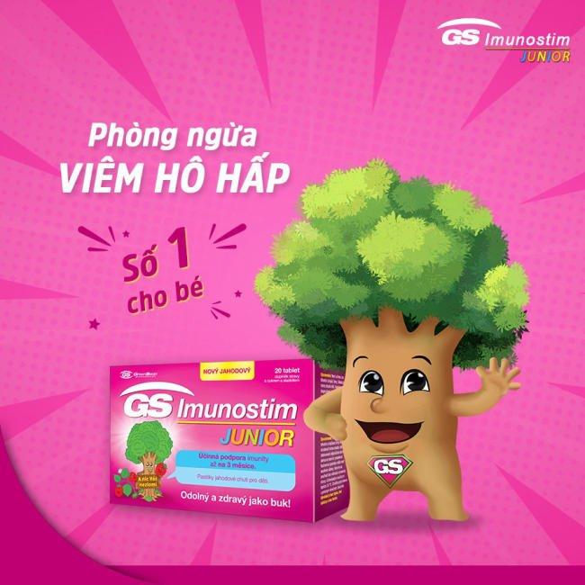 GS Imunostim Junior - Đột phá miễn dịch, cho bé vui khỏe đến trường