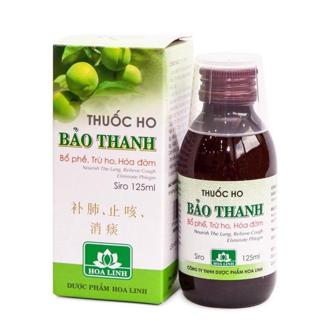 Siro ho Bảo Thanh giá 42.000 đồng/ chai 125ml